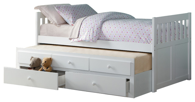 Carissa Twin Over Trundle Bed With