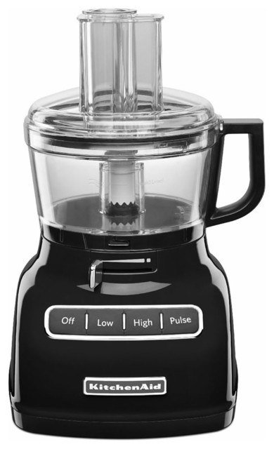 Exactslice System 7-Cup Food Processor, External Adjustable Lever, Onyx Black.