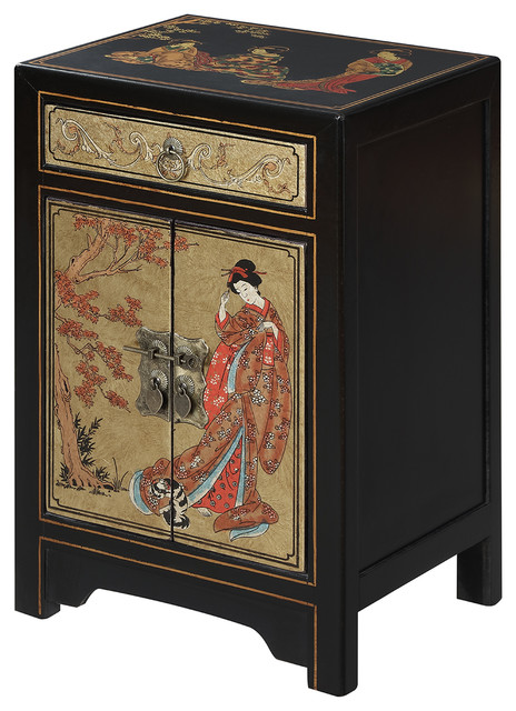 Touch of Asia 1 Drawer Cabinet End Table - Asian - Side Tables And ...