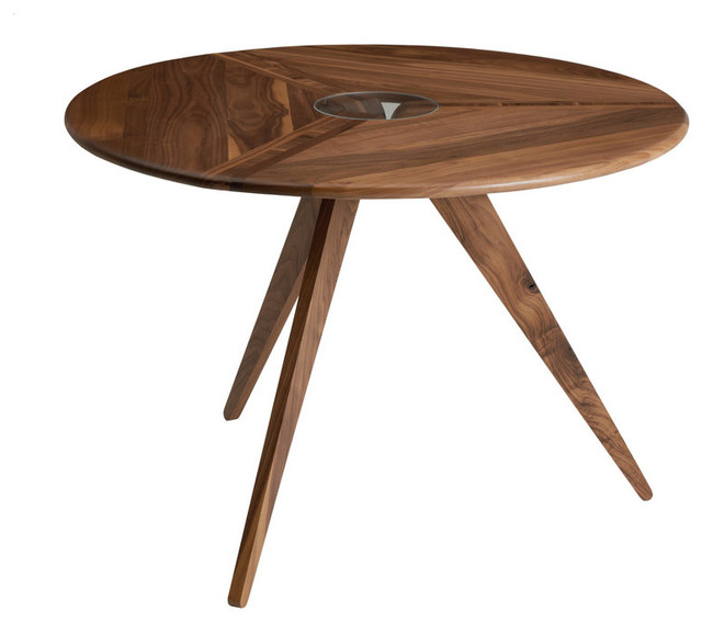 Square Cafe Table Walnut 34