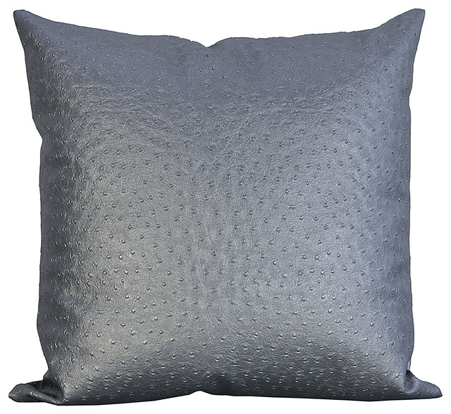 Throw Pillows Faux Leather : Ostrich Faux Leather Decorative Throw Pillow - Decorative Pillows - by Wallpaper and Fabrics Galore