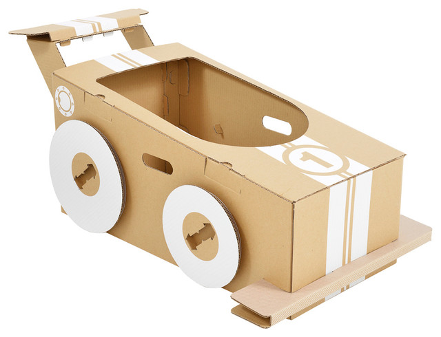 speed racer cardboard race car contemporary kids toys and games