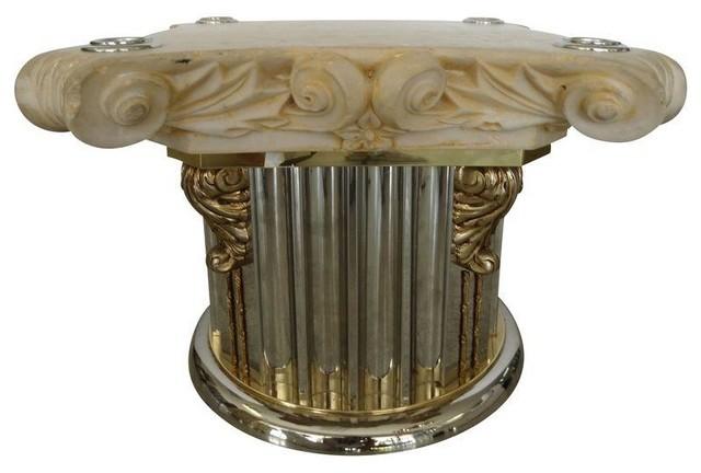 Corinthian Column Capital Table Base Modern Dining Tables