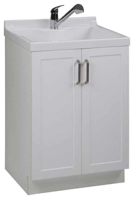 Kyle 24 Laundry Cabinet With Pull Out Faucet And Abs Sink