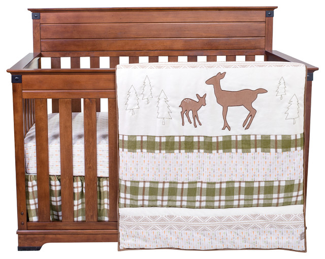 Deer Lodge 3 Piece Crib Bedding Set Rustic Baby