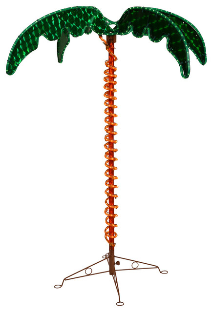 4.5 Vickerman X110246 Palm Tree, Green, Orange - Tropical - Outdoor Rope And String Lights - by ...