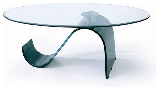 """Beverly Hills Furniture - Curved """"S"""" Base Round Glass ..."""