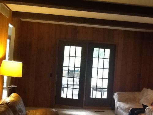 Need Ideas On Painting Rough Sawn Paneling In Family Room