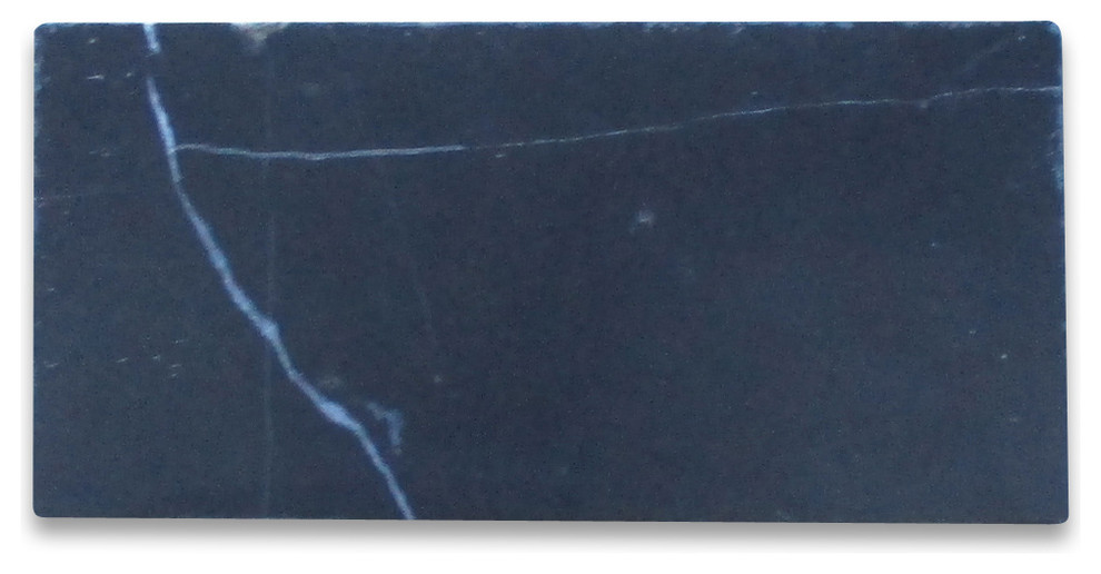 Black Marble 3 X6 Subway Tile Honed