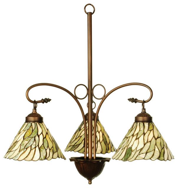 meyda tiffany 3light jadestone willow traditional tiffany chandelier x240301 - Tiffany Chandelier