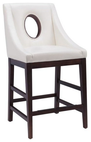 sloping arm leather counter stool ivory counter height stools - Leather Counter Stools