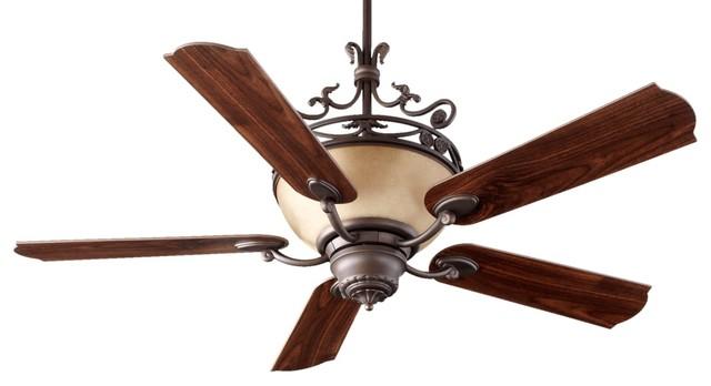 "Quorum International 63565 Turino 5 Blade Indoor Ceiling Fan, 56""."