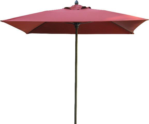 7.5&x27; Lucaya Square Umbrella With Bright Aluminum Pole, Pacific Blue Canopy.