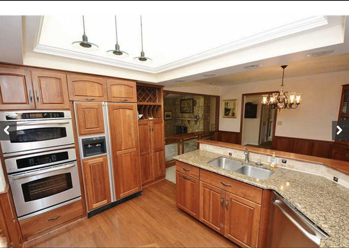 what paint colors work well with cherry cabinets or On what color paint goes with cherry cabinets
