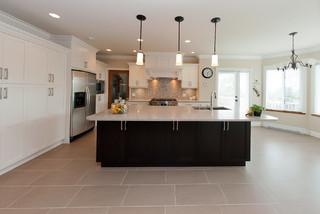 White Kitchen Espresso Island cloud white maple kitchen/island in espresso color