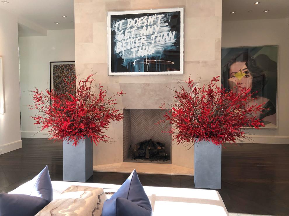 Living room - small contemporary living room idea in Phoenix