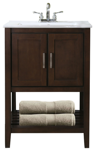 Atticus Single Sink Vanity Coffee 24