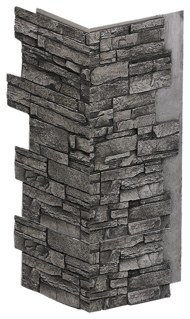 Deep Stacked Corner Panel - Charcoal. -1