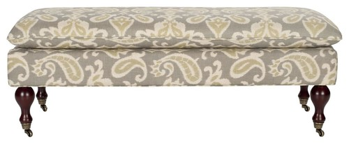Hampton Pillowtop Bench - Light Grey/ Off WhiteHampton Pillowtop Bench - Light Grey/ Off White