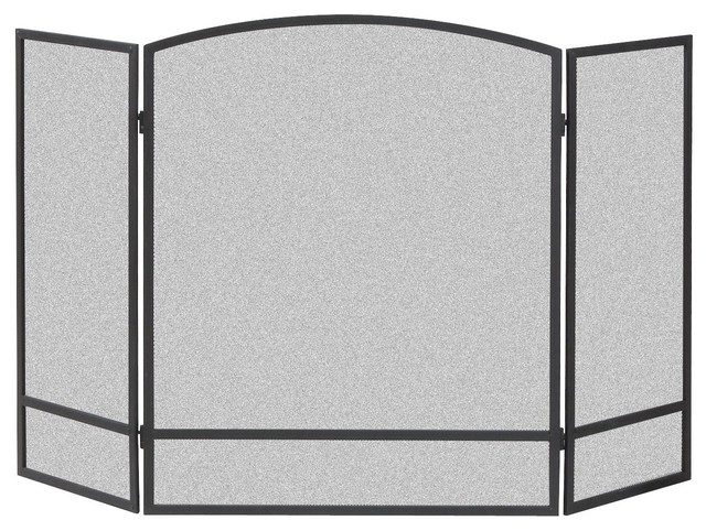 "Panacea Arched Fireplace Screen With Bar, 30""x48"""