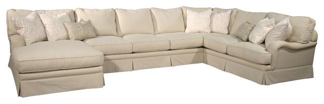 Fairmont designs pacific coast cream 3 piece sectional for Sectional sofa farmhouse