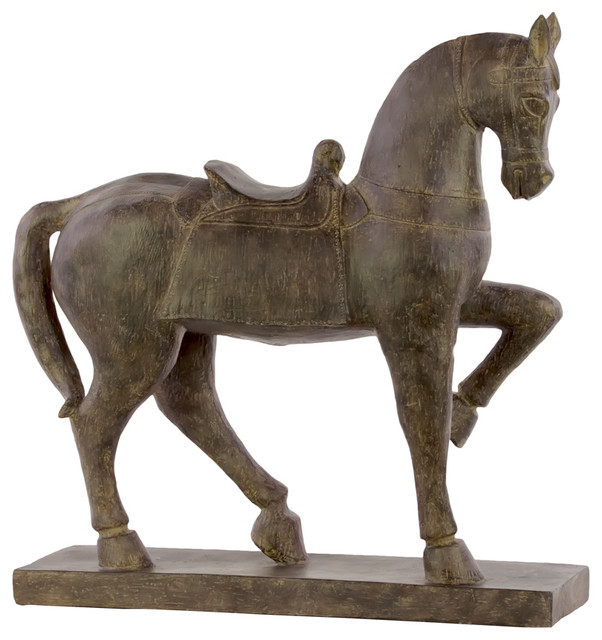 Urban Trends Collection Resin Horse With Saddle Figurine