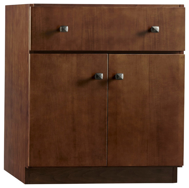Ronbow 30 Amberlyn Solid Wood Vanity Cabinet Base Cafe Walnut