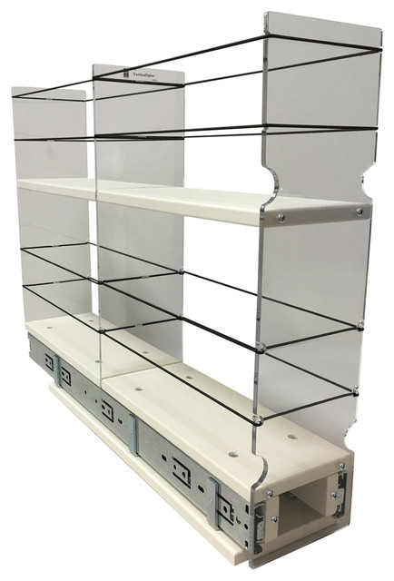 4x2x22 Storage Solution Drawer, Cream.