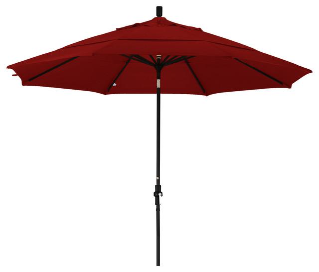 11 Foot Pacifica Aluminum Crank Lift Collar Tilt Market Umbrella, Black Pole.