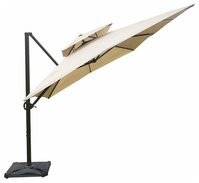 Abba Patio 9x12 Square Offset Cantilever Umbrella Dual Vent With