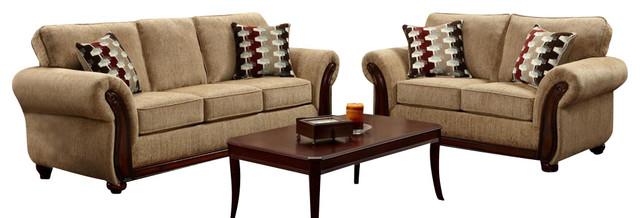 chelsea home courtney 2 piece living room set in radar
