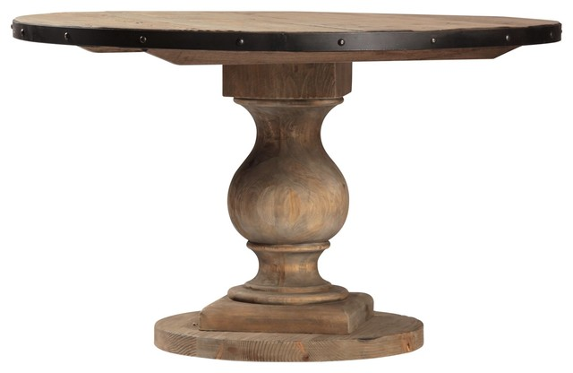 Farmhouse Round Pedestal Table 51quot Eclectic New York  : eclectic from www.houzz.com size 640 x 416 jpeg 27kB