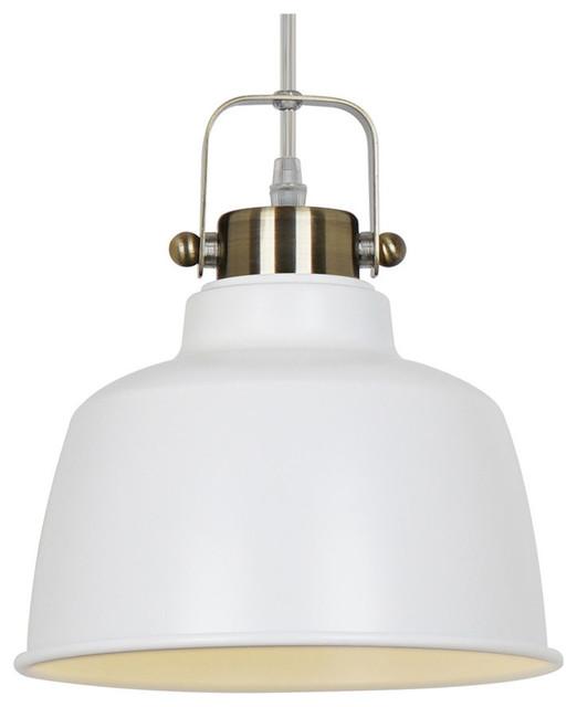 Mercer Pendant Lamp, White.