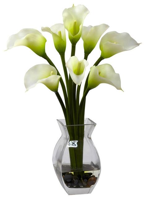 Classic Calla Lily Arrangement, Cream