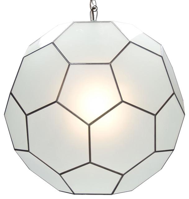 morgan global bazaar frosted mirror hanging sphere pendant 15