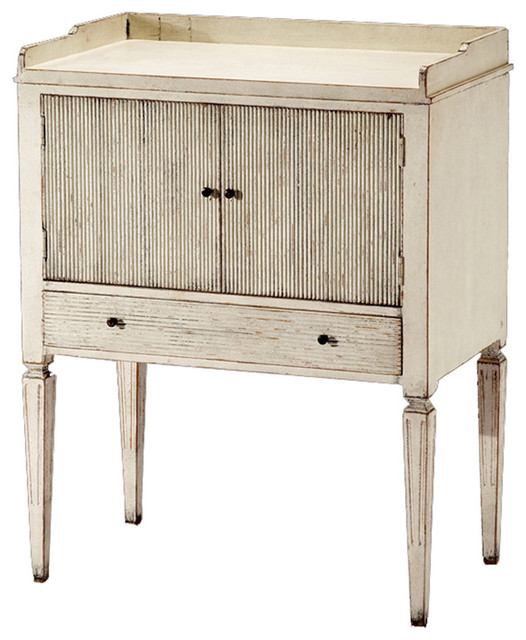 Lorelei spindle leg french country blue gray wash side for French nightstand bedside table