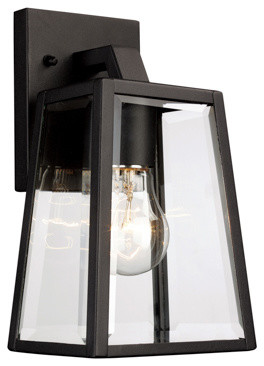 Obsidian 1-Light Outdoor Wall Lights, Black.
