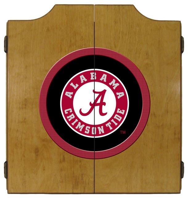 University of Alabama Crimson Tide Dart Board Cabinet - Contemporary - Darts And Dartboards - by ...