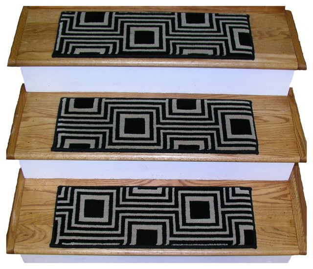 Premium stair treads set of 16 contemporary stair for Jardin stair treads