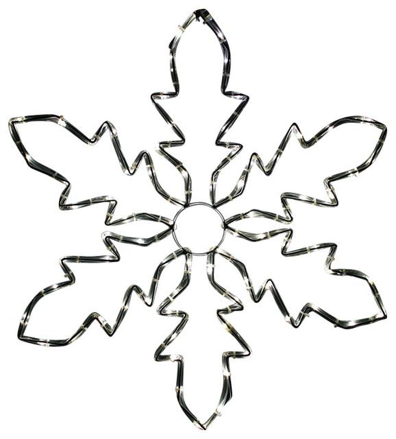 Led Lighted Indoortube Light Snowflake Christmas Decoration Pure