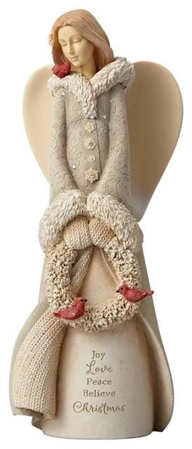 enesco foundations christmas angel figurine