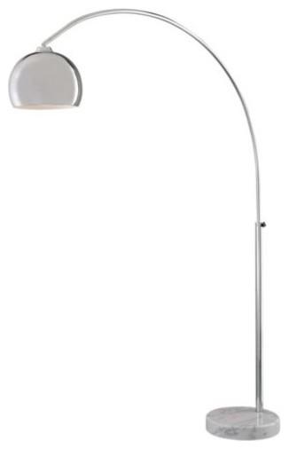 Iris 59 5 Led Integrated Floor Lamp Chrome