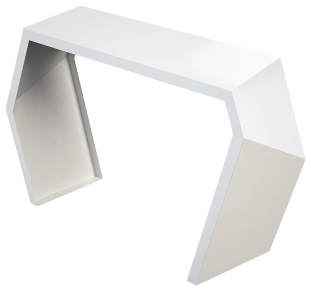 pac modern metal console table brilliant white - Modern Console Tables