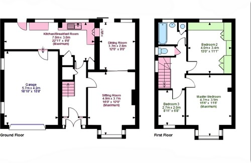 Semi detached extension for Floor plans for a semi detached house extension