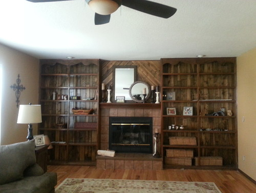 Painting Paneling Behind Bookshelves