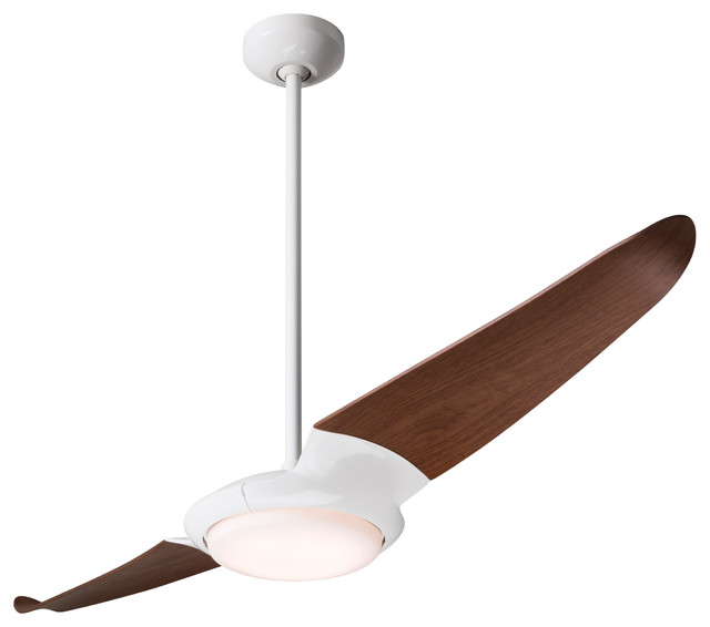 """Modern Fan Ic/air2 Led-Light Gloss White 56"""" Ceiling Fan With Remote Control."""