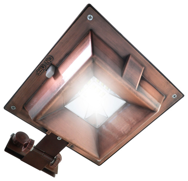 6 LED Copper Multi Use Gutter/Fence Light Transitional Outdoor Wall Lights