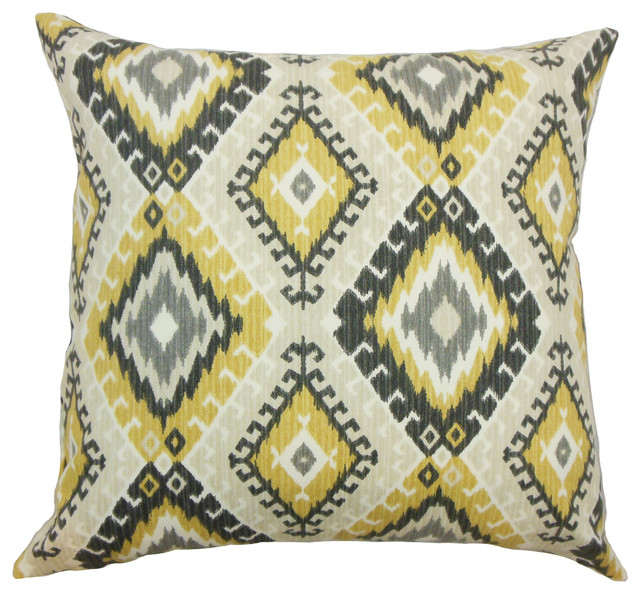 Jinja Geometric Bedding Sham Black, Euro - Southwestern - Pillowcases And Shams - by The Pillow ...