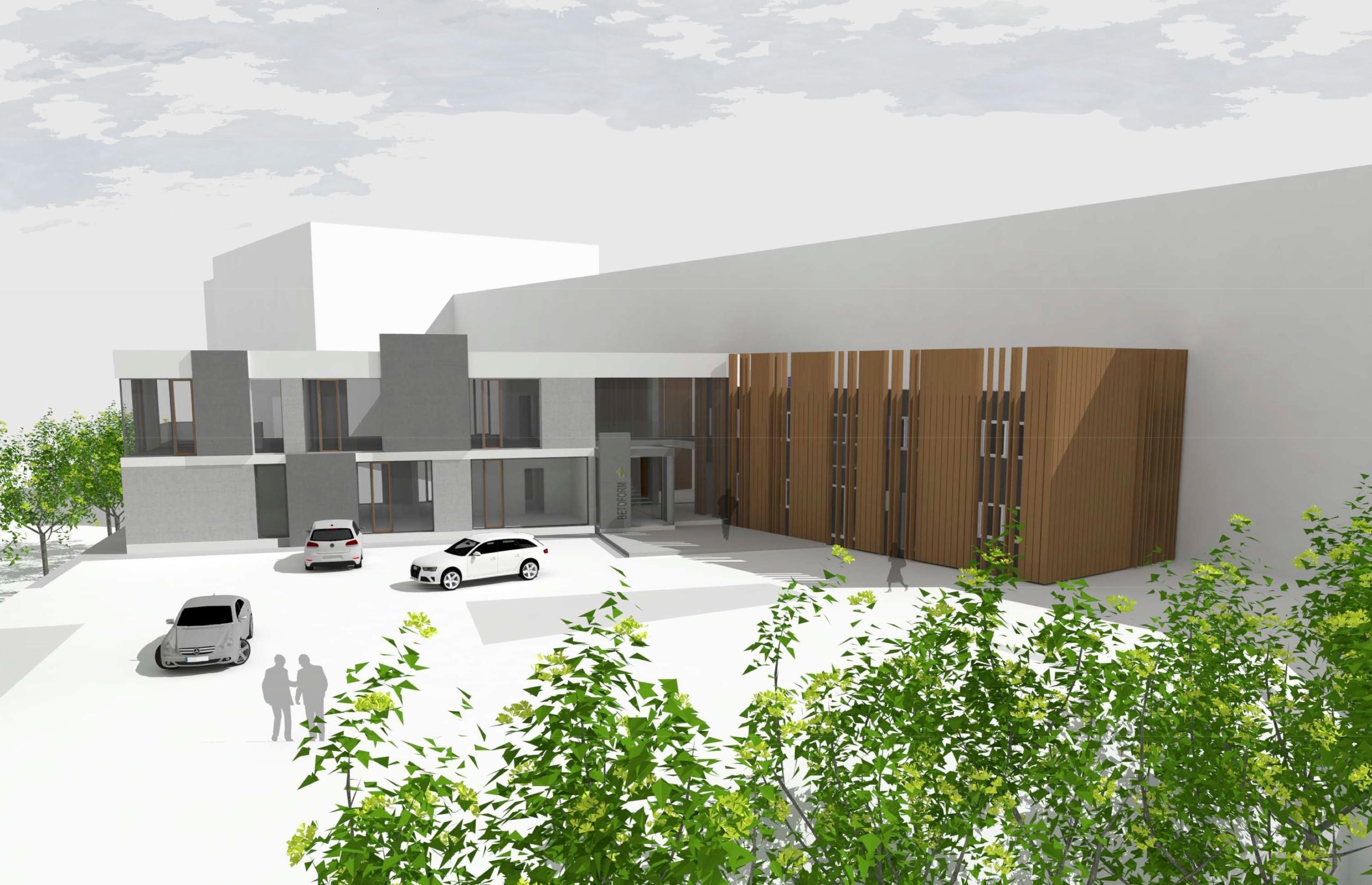 Entwurf I links Neubau - rechts neue Verkleidung Bestand