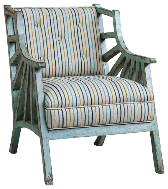 Marvelous Surata Exposed Wood Accent Chair 23637